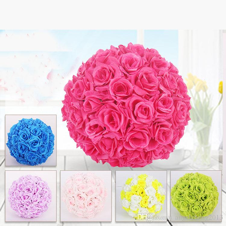 2018 fabric artificial flowers silk rose pomander wedding party home 2018 fabric artificial flowers silk rose pomander wedding party home decoration kissing ball trendy color simulation flower ball diameter 15cm from mightylinksfo