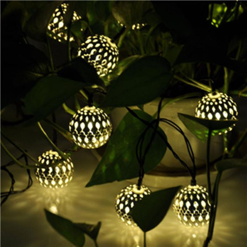 Cheap Wholesale 3.5m Solar Power Patio Lights String Silver Ball Outdoor 10  Led Rope Lights Feathers Lights For Christmas Valentineu0027S Day Copper String  ...