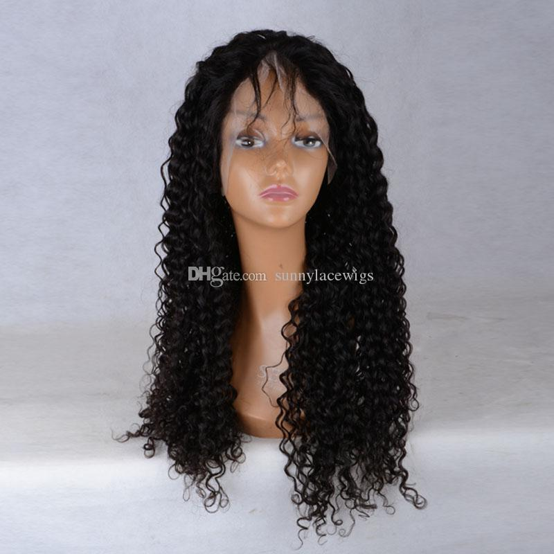 Cheap Glueless Lace Front Wig With Baby Hair Brazilian Virgin Remy Human Hair Wig Afro Kinky Curly Full Lace Wigs For Black Women