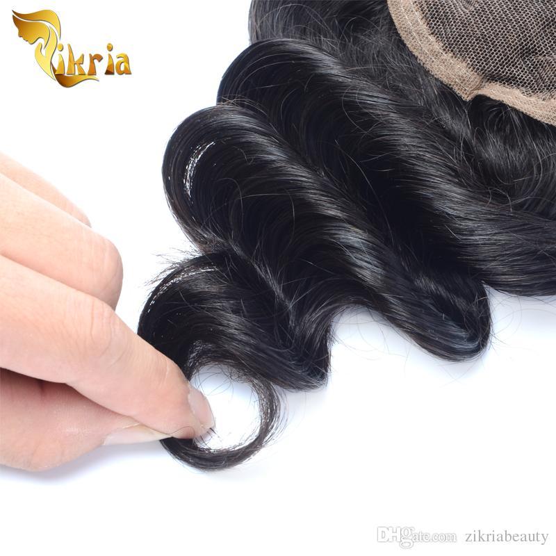 Бразильский Индийский Малайзии Перуанский Девственные Волосы Свободная Волна 100% Необработанные Человеческие Волосы 3 Связки С Закрытие Могут Быть Окрашены Не Клубок