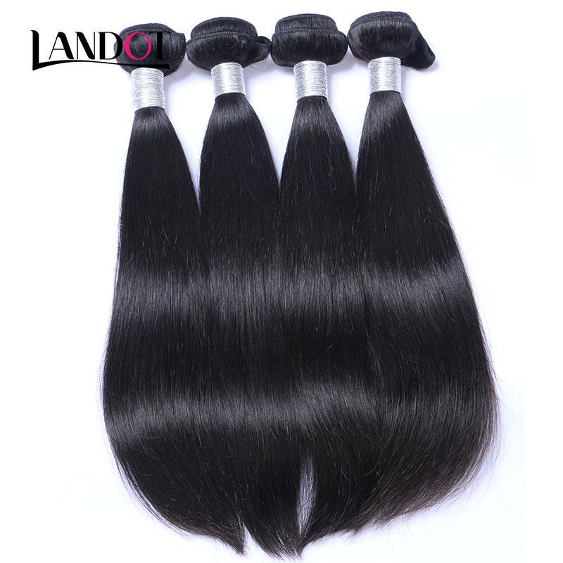 8A peruanisches indisches malaysisches brasilianisches ratöniges jungfräuliches menschliches Haar webt 3/4/5 Bündel Nerz Remy Hair Extensions Natürliche schwarze Farbe färbbar