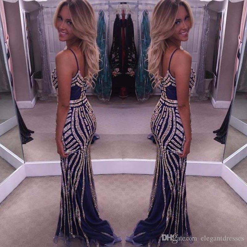 2017 vestido de fiesta más nuevo con cuentas de cristal partido atractivo equipado vestidos de baile vestidos de noche vestido formal por encargo