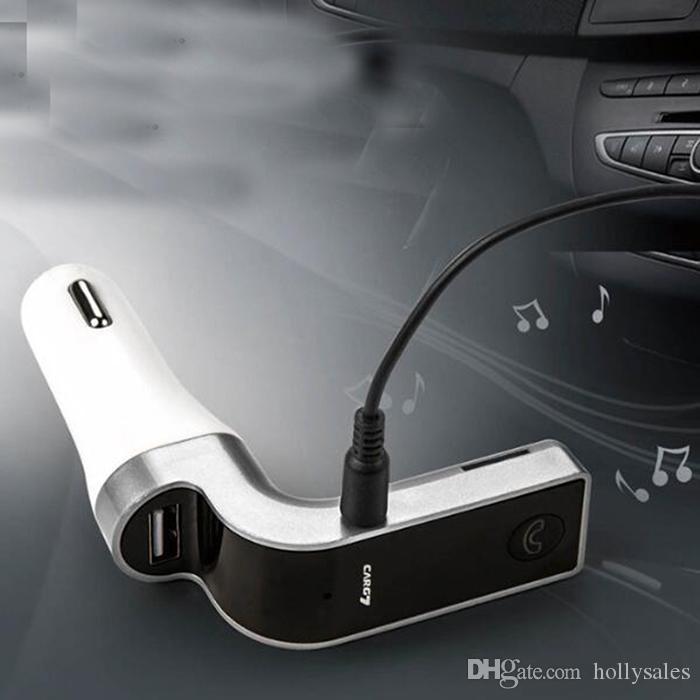 Auto-FM-Sender MP3-Player G7 Multifunktions 5V 2.5A Autoladegerät Wireless Fahrzeug Audiounterstützung Handfree SD TF-Karte