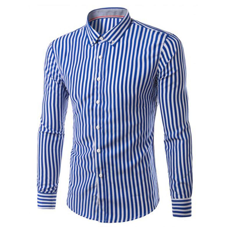 Wholesale 2017 New Fashion Hemiks Men S Classic Slim Fit Vertical Striped Long Sleeve Dress Shirt Best For Office And Street Wear