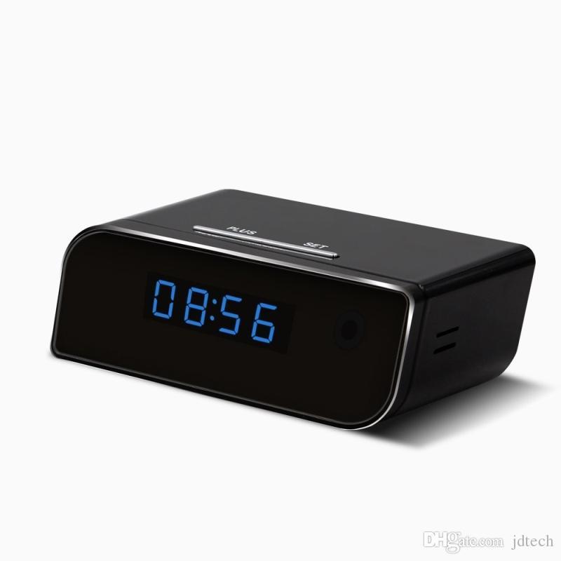 1080P WiFi Camera Alarm Clock Network Camera HD Nanny Cam Motion Activated Alarm Wireless Security Camera Baby Monitor Retail Box