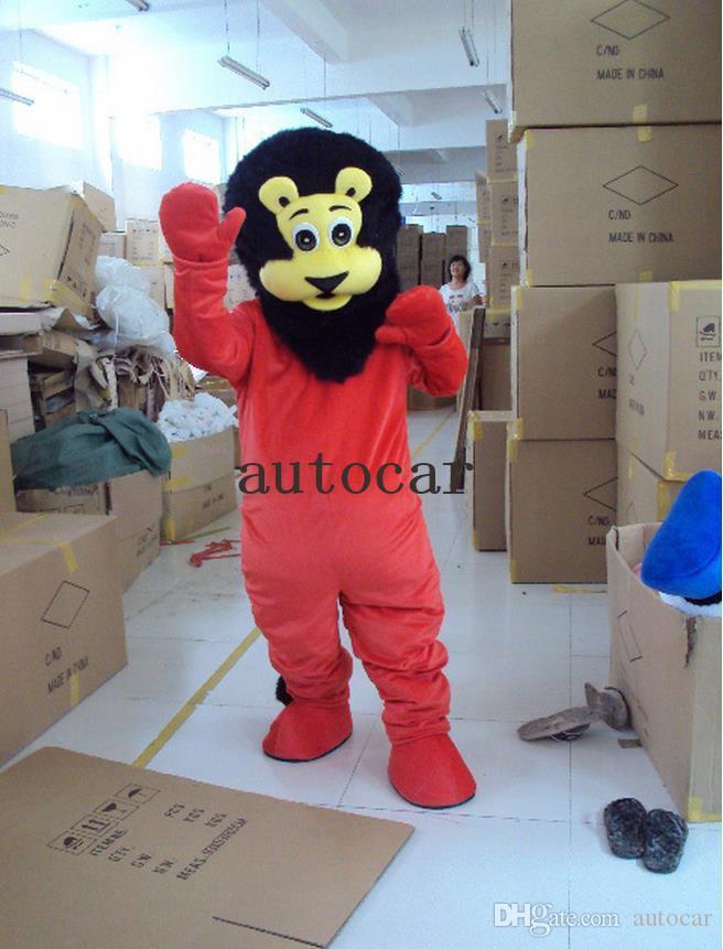 costume su ordinazione della mascotte del costume della mascotte del personaggio dei cartoni animati del leone rosso Prodotti su ordine spedizione gratuita