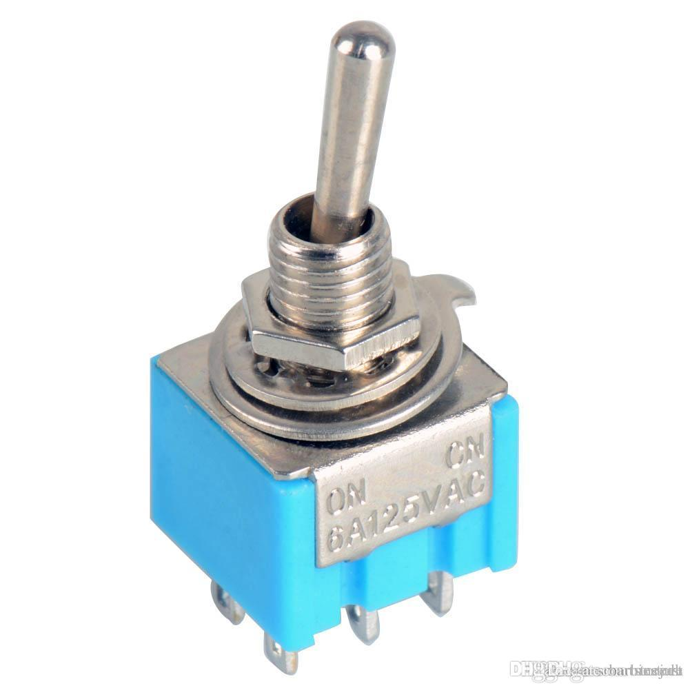 Groovy 2019 Blue Dpdt Mini Toggle Switch On On High Quality Guitar Switch Wiring Cloud Peadfoxcilixyz