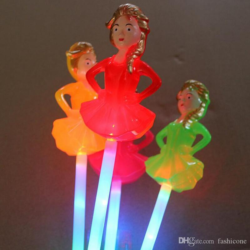 LED Light Sticks Children Girls LED Flashing Fairy Princess Magic Wand Sticks Light Stick Birthday Wedding Glow Party Supplies