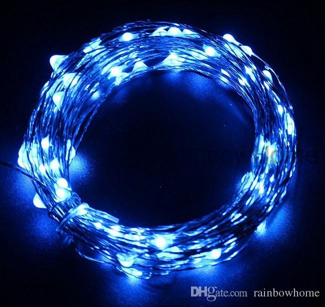 DC 12 V Fiş LED Bakır Gümüş Tel Dize Peri Işıklar 10 M 20 M Xmas Ev Partisi Düğün Waterpfoof Dekor için USB 5 V Güç Bankası