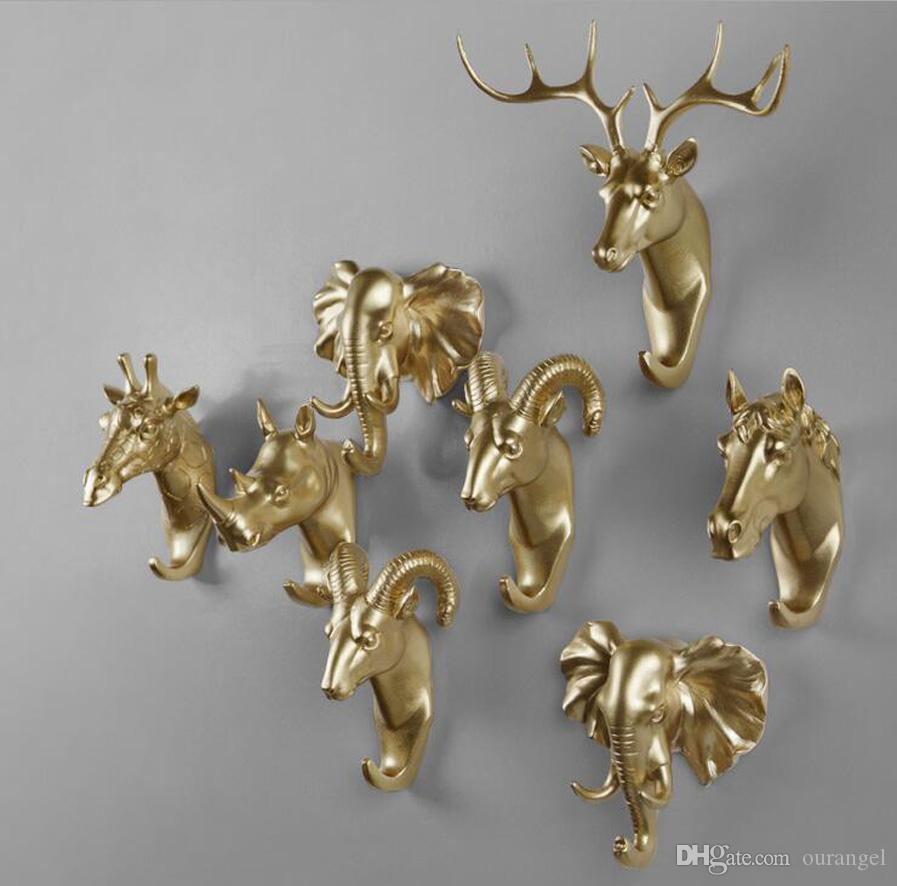 decor products head set coat hooks brass upperdutch wall hangers img animal hook of solid deco solution lion storage decorative