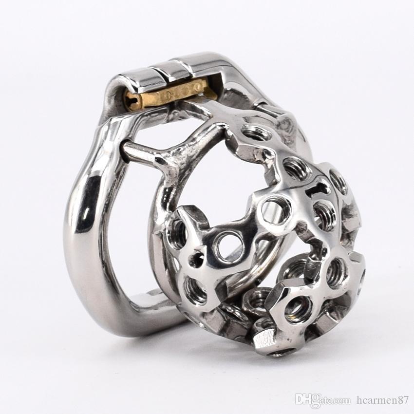Cintura di castità a spillo in metallo acciaio inossidabile super piccolo dispositivo di castità maschile 2