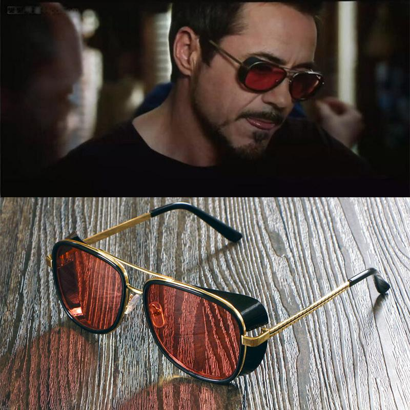Wholesale Male Steampunk Sunglasses Tony Stark Iron Man Sunglasses Retro  Vintage Eyewear Men Steampunk Sun Glasses UV400 Oculos De Sol Cheap  Eyeglasses ... b48f5fc62c