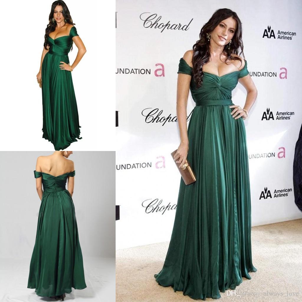 Sofia Vergara Emerald Green Evening Dress High Quality Off The ...