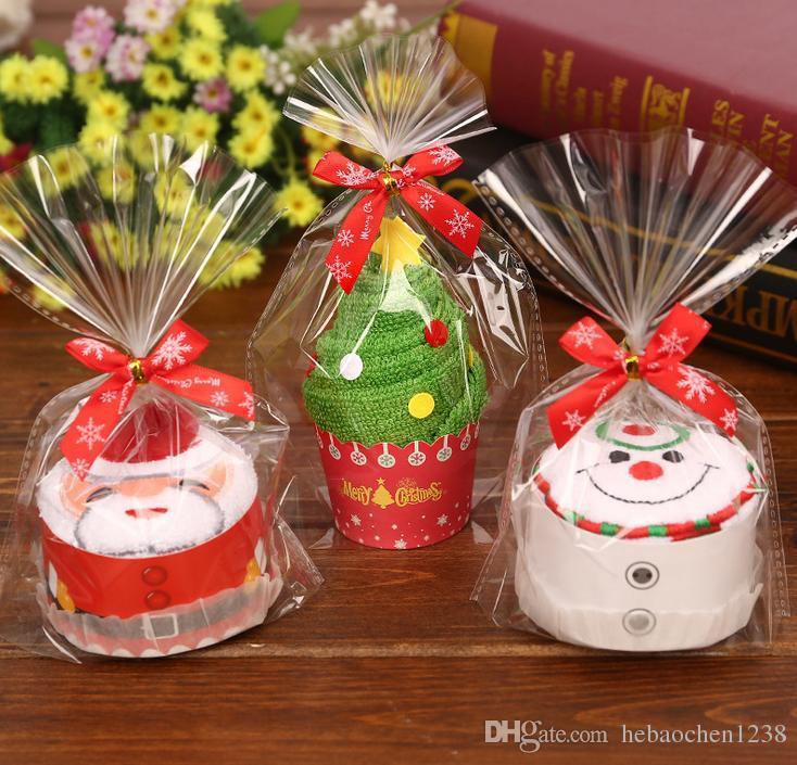 Großhandel Kuchen Handtuch Weihnachtsgeschenke Niedlichen Cartoon ...