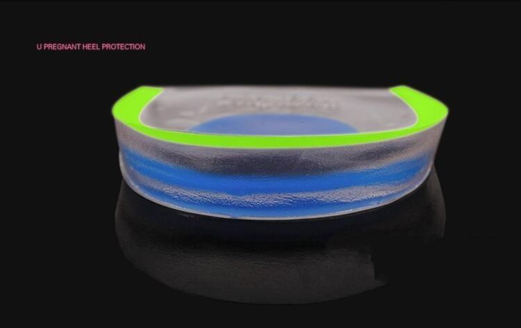 Mens Women Silicone Gel Heel Cushion Insoles Soles Relieve Foot Pain Protectors Spur Support Shoe Pad Feet Care Inserts
