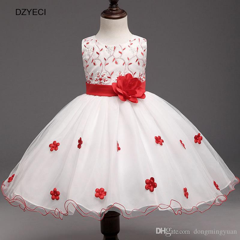 1894d98abb3 Teen Girl Wedding Dresses New Carnaval Costume For Kid Bow Princess Dress  Children Deguisement Elza Bridesmaid Ceremony Pageant Frock Girl Bow Flower  Dress ...