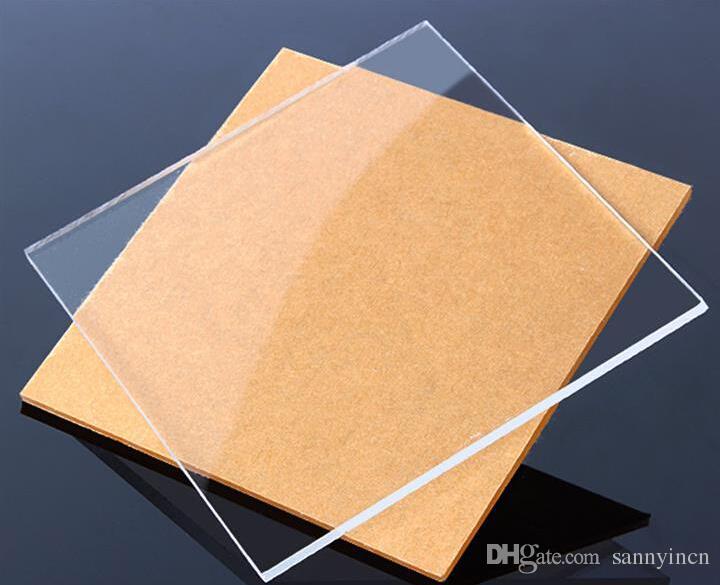 Compre 3mm * 200mm * 200mm Transparente Acrílico Claro Plexiglás ...