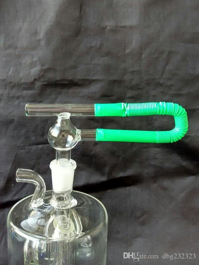 Прозрачный интерфейс стеклянные бонги аксессуары, стеклянные курительные трубки красочные мини многоцветные ручные трубы Лучшая ложка глас