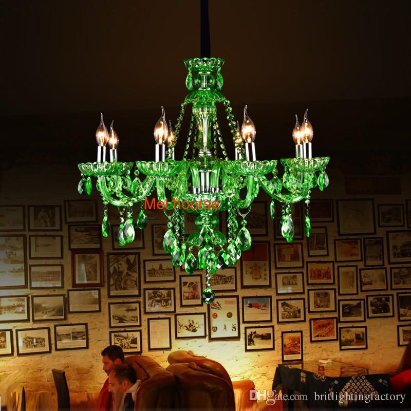 Modern living room bar crystal chandeliers european green crystal modern living room bar crystal chandeliers european green crystal chandelier candle lamp room ktv hotel restaurant colored glass chandeliers mason jar aloadofball Choice Image