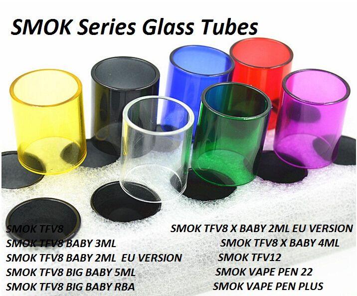 Pyrex Replacement Glass Tubes for TFV8 X Baby 2ML 3ML 4ML Big Baby Beast 5ML TFV12 Prince Vape Pen 22 Plus Tank