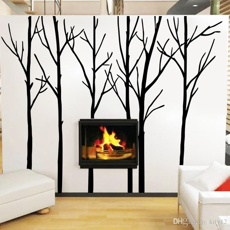 Big Tree Wall Stickers For Bedroom Living Room Wall Decoration Sticker Tree  Wall Decals Reusable Wall Stickers Room Decals From Kity12, $22.12|  Dhgate.Com Part 57