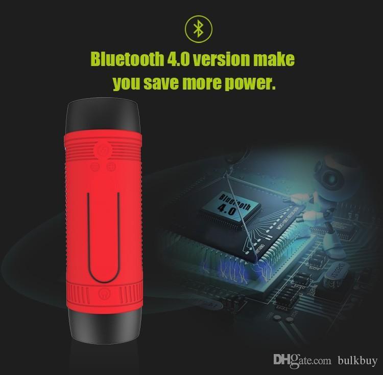 Portable Zealot S1 Bluetooth Speaker 4000mah Power Bank recargable + luz LED para el deporte al aire libre y 3 en 1 función