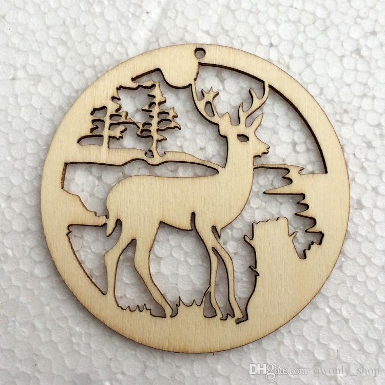Weihnachtsrequisiten-Verzierungs-Weihnachtsbaum-hängende Dekor-Waren-Elchholz-Ren-Dekorationen Hauptfestival-Feiertags-Party kleidet /