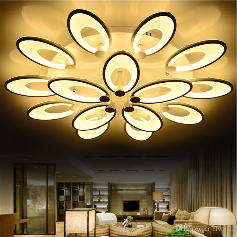 2019 Modern Petals Led Ceiling Lights Home Living Room Bedroom Lighting  Fixture Modern Acrylic LED Ceiling Lamp Flower Blooming Ceiling Lights From  ...