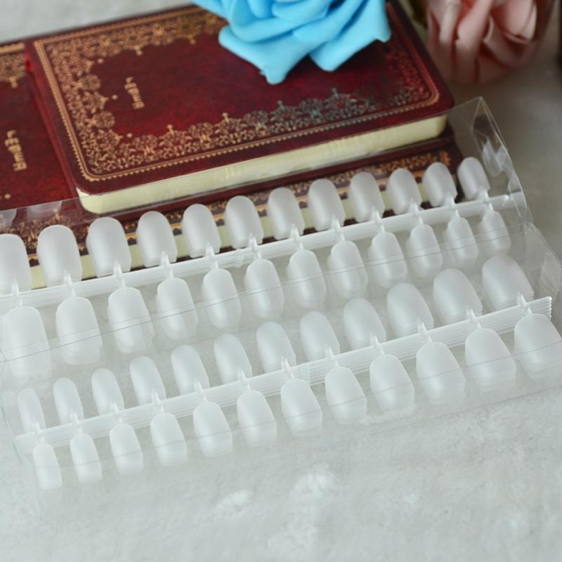 Suave Unhas Falsas 288 Fino Prego Cobertura Completa Phototherapy Remendo Do Prego Completa Transparente Ultra-fino Fosco Macio Prego Falso Adesivos