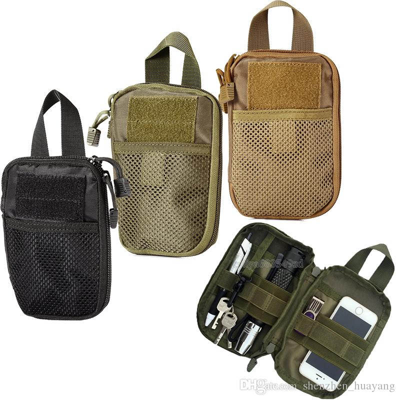 2019 Military Molle EDC Pouch Mesh Tools Accessory Pouches Tactical Waist  Hunting Bags Outdoor Flashlight Magazine Pocket Free DHL Fedex From ... 0de1191f30874