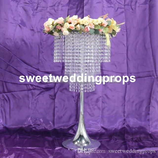 new style beautiful cheap crystal flower stand centerpieces for wedding