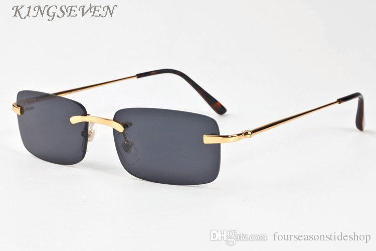 2017 مصمم النظارات للنساء نظارات كبيرة الإطار خمر الجاموس القرن النظارات الرجال النظارات بدون شفة رمادي أسود عدسة الذكور مع حالة