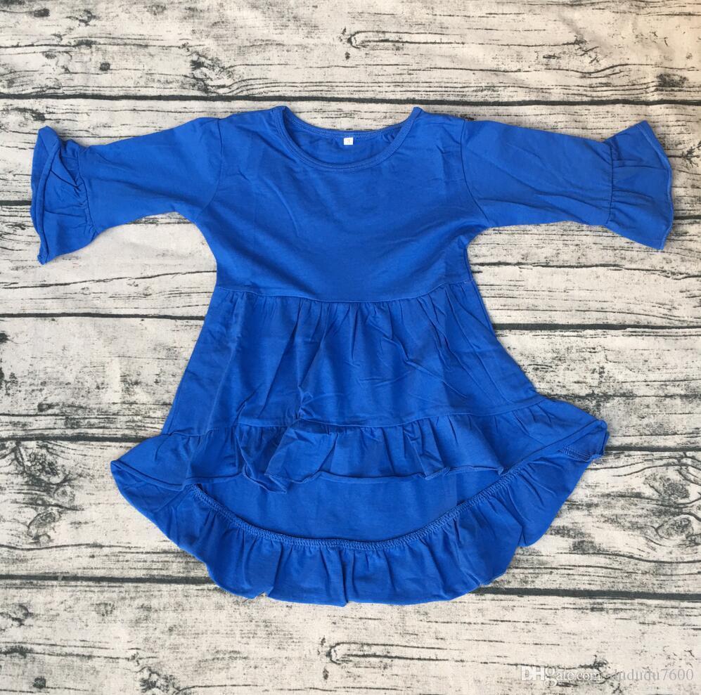5a94583c0 Lovely Kids High Low Dress Boutique Long Sleeve Dress Cotton Fancy ...