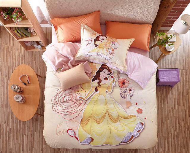 Beauty And The Beast Belle 3d Printed Bedding Sets For Girls Bedroom Decor  Cotton Bedspreads Duvet Covers Twin Full Queen Size Duvet Comforter Duvet  Sizes ...