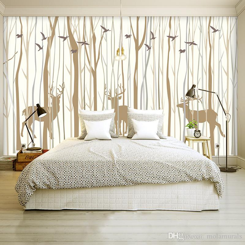 Large mural custom wallpaper European Retro nostalgic forest elk TV Background decoration painting Living Room Bedroom Wallpaper