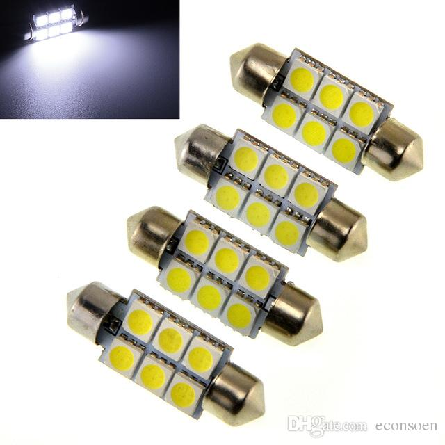 5050 6smd 6 SMD C5w 31mm 36mm 39mm 41mm Blanco C5w Interior de alta calidad Festoon Dome Car Light Lámpara Bombilla nuevo Led Car