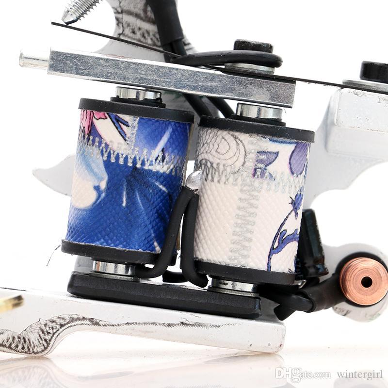 New Type Tattoo Machine Shader Machine 10 Wraps Coil Tattoo Gun for Tattoo Power Supply Kits TM8324