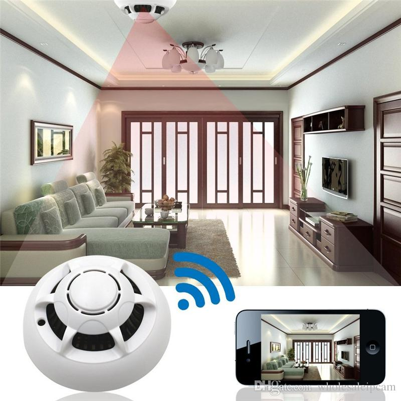 HD 1080P Wireless Camera Smoke Detector P2P Wifi Camera Video Recorder Indoor DV Security Surveillance Camcorder for Home Kids Remote View
