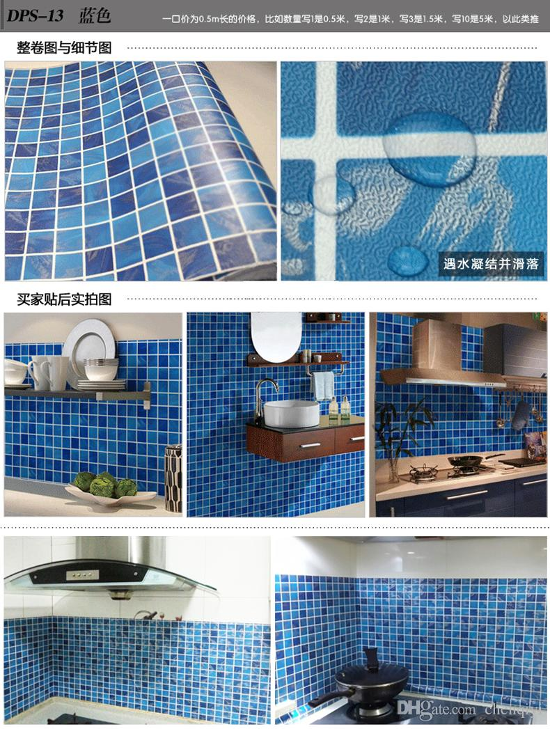 New Kitchen bathroom mosaic self - adhesive wallpaper top quality waterproof wall stickers cabinet wardrobe furniture renovation