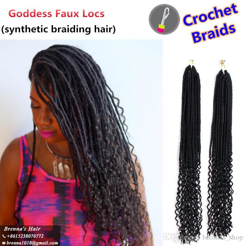 2018 Janet Collection 20inch Faux Locs Curly Crochet Hair