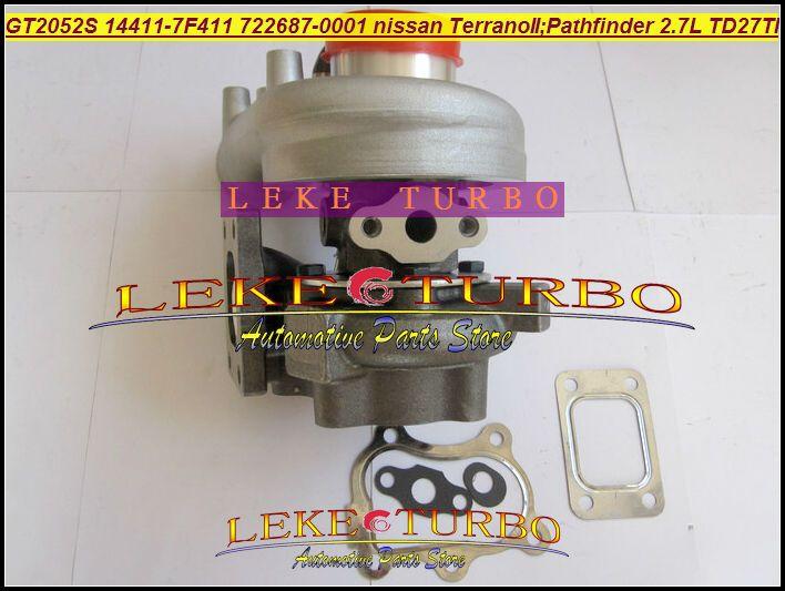 GT2052S 14411-7F411 722687-5001S 722687 turbo Nissan Terrano II 2001 Pathfinder 2.7L 01-05 TD27TI Turbocharger (4)