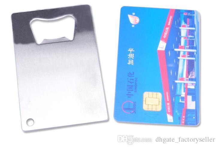 / DHL FedEx FedEx Spedizione gratuita portafoglio in acciaio inox cartolina di credito apribottiglie biglietto da visita aperitori di birra
