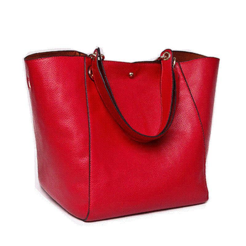 2017 New Fashion Designer Retro Simple Shoulder Bag Genuine ...