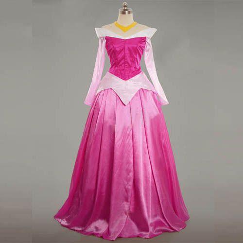 Cheap Adult Sleeping Beauty Dress Princess Aurora Cosplay
