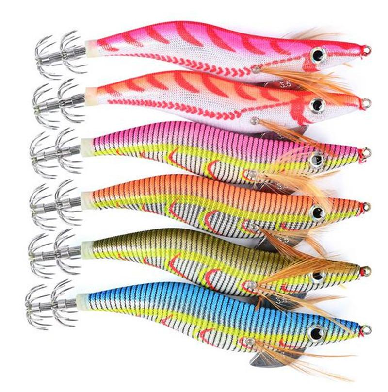Artificial shrimp squid lure 13cm 21g 3.5# Tail Noctilucent Prawn Lures Fly fishing hooks