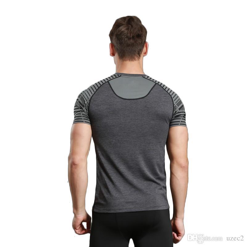 blouse de fitness perméable à l'air confortable hommes
