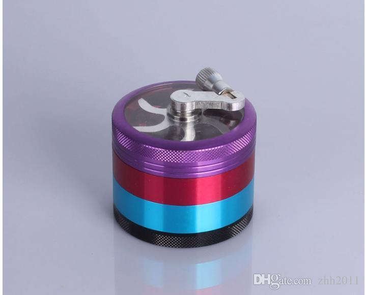 Um Novo 4 Camadas De Metal GRINDER DE TABACO 63mm Liga de Alumínio Cor Misturada Cor Grinder Yanju Tubo Detector de Fumaça Quebrado
