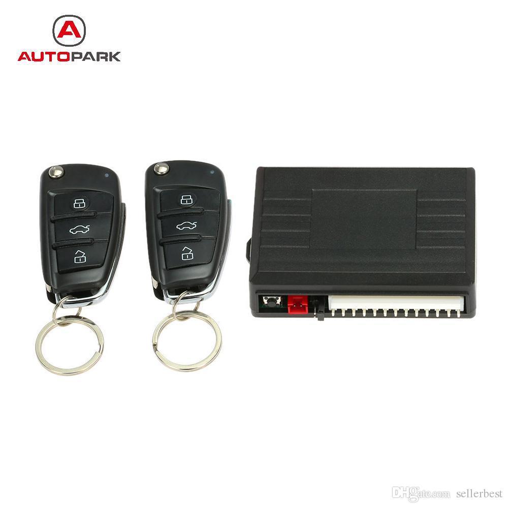 Système d'alarme universel de voiture télécommande centrale de voiture verrouillage système sans clé avec bouton de libération du coffre pour Peugeot 307 VW Toyota