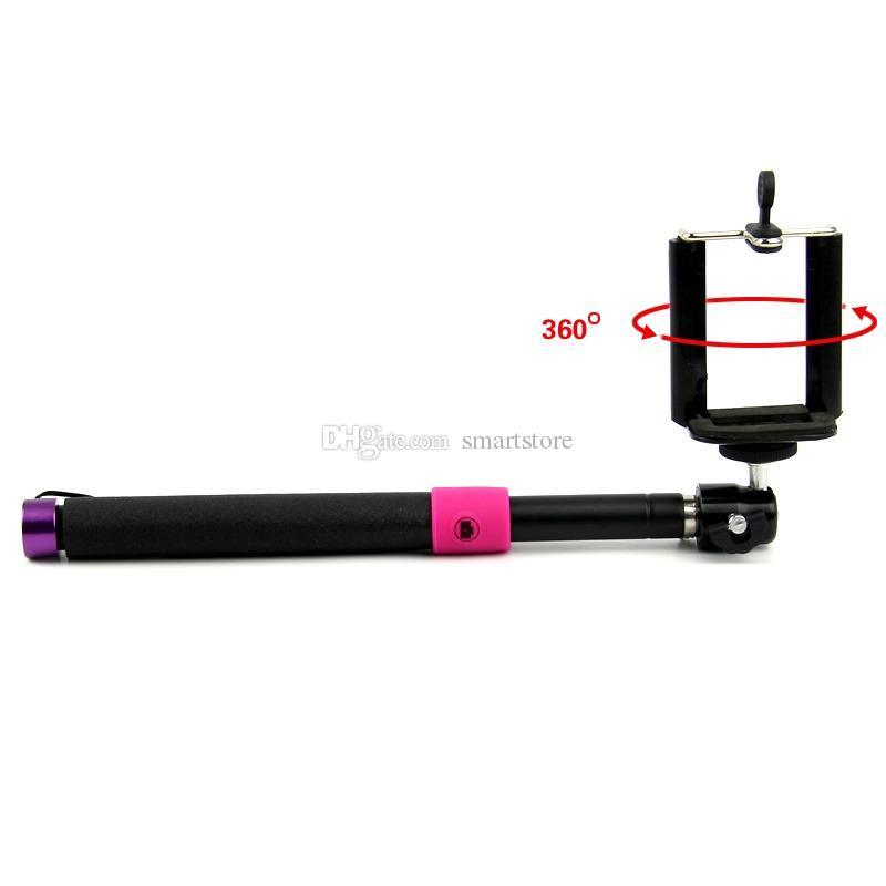 / # Selfie De poche Monopod Titulaire De Bâton 3.5mm Filaire Télécommande Bouton Extensible Tenir Tenue pour Téléphone Mobile 0001