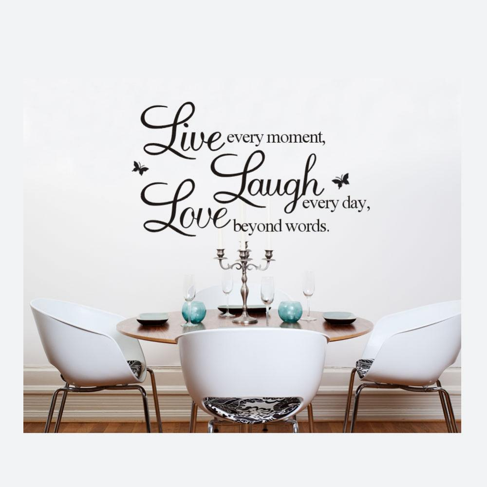 50 * 70cm English Words Wall Stickers Live Laugh Love Removable Vinyl Wall  Decals Home Living Room Mural Art Music Wall Decals My Wall Stickers From  ... Part 75